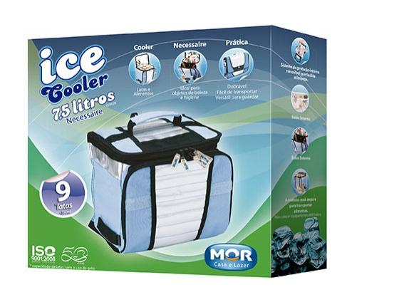 Bolsa Térmica Ice Cooler 7,5 Litros Mor Até 9 Latas Camping Viagem  - Casafaz