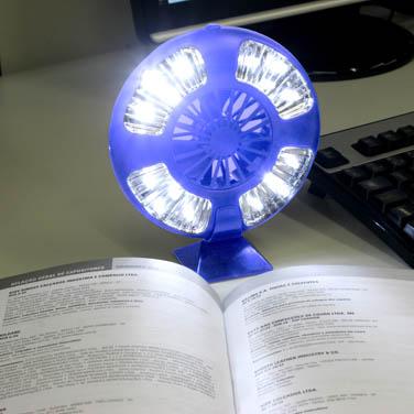 Luminária E Ventilador Fan P/Barracas Acampamentos Nautika  - Casafaz