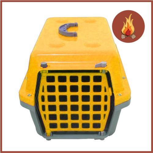 Caixa De Transporte Cães E Gatos Nº 1 Alvorada Amarela