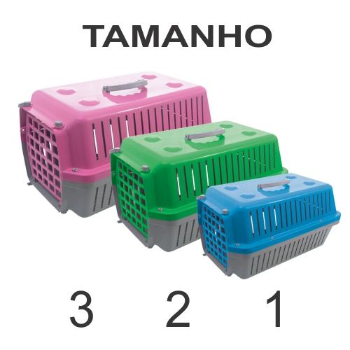 Caixa De Transporte Cães E Gatos Nº 1 Alvorada Amarela  - Casafaz