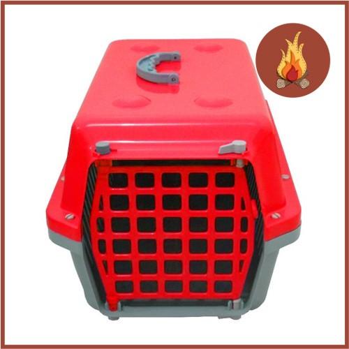 Caixa De Transporte Cães E Gatos Nº 3 Alvorada Vermelha  - Casafaz