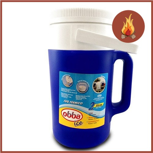 Garrafa Térmica Obba Ice 2 Litros Azul  - Casafaz