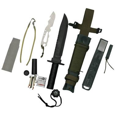 Faca Platoon Verde Nautika Tatica Sobrevivência, Caça E Pesca  - Casafaz