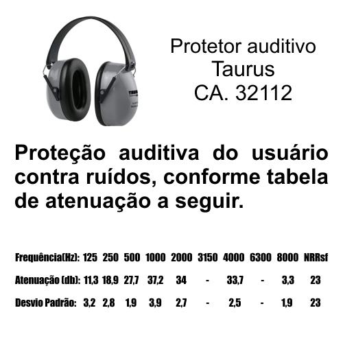 Abafador de Ruídos Tipo Concha Taurus Profissional  - Casafaz