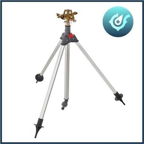 Aspersor Irrigador Setorial Telescópico 360° + Tripé Worker