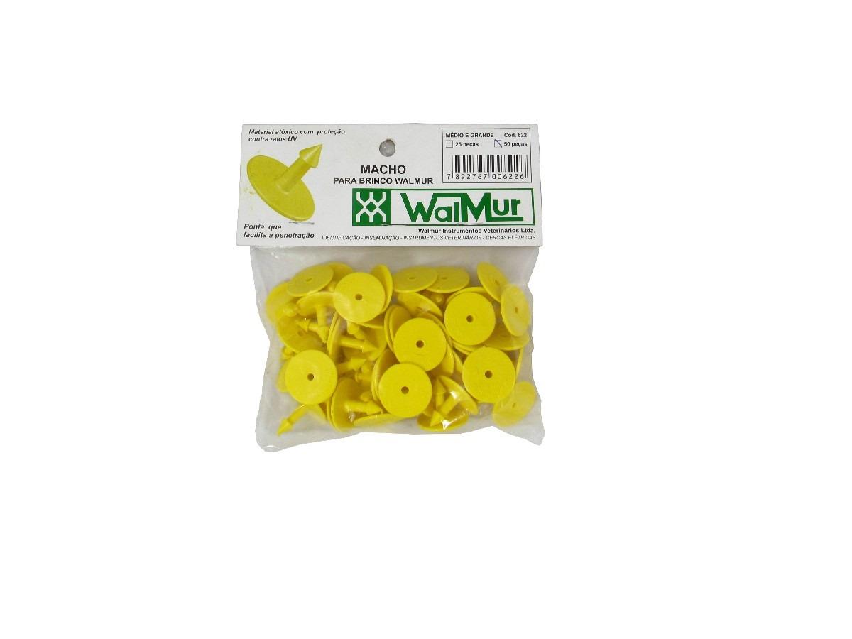 Brinco Walmur Para Identificação de Bovinos M Pacote 50 Unidades  - Casafaz