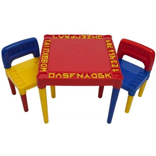 Mesa Infantil Educativa Desmontável Com 2 Cadeiras
