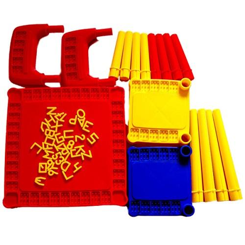 Mesa Infantil Educativa Desmontável Com 2 Cadeiras  - Casafaz