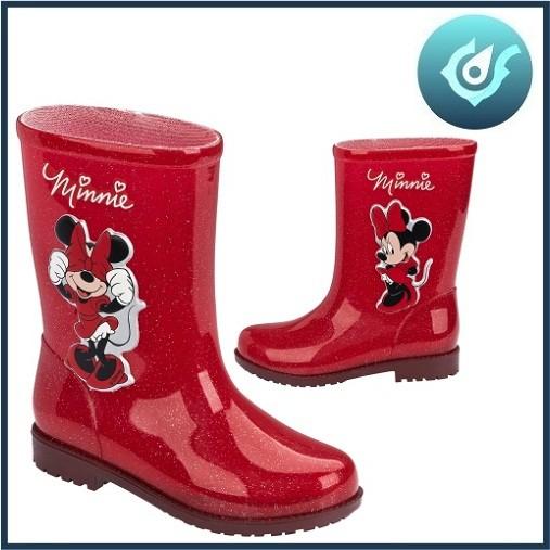 Bota Infantil Minnie Vermelho Glitter 03713 Grendene