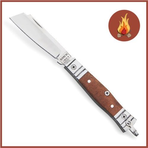 Canivete Bianchi Alumínio Madeira Com Bainha 3 Polegadas 10102/22B