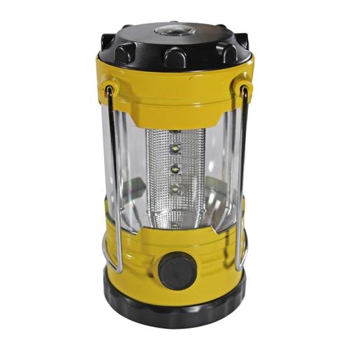 Luminária Led Camping 12 Leds Com Bussola Amarela Western  - Casafaz