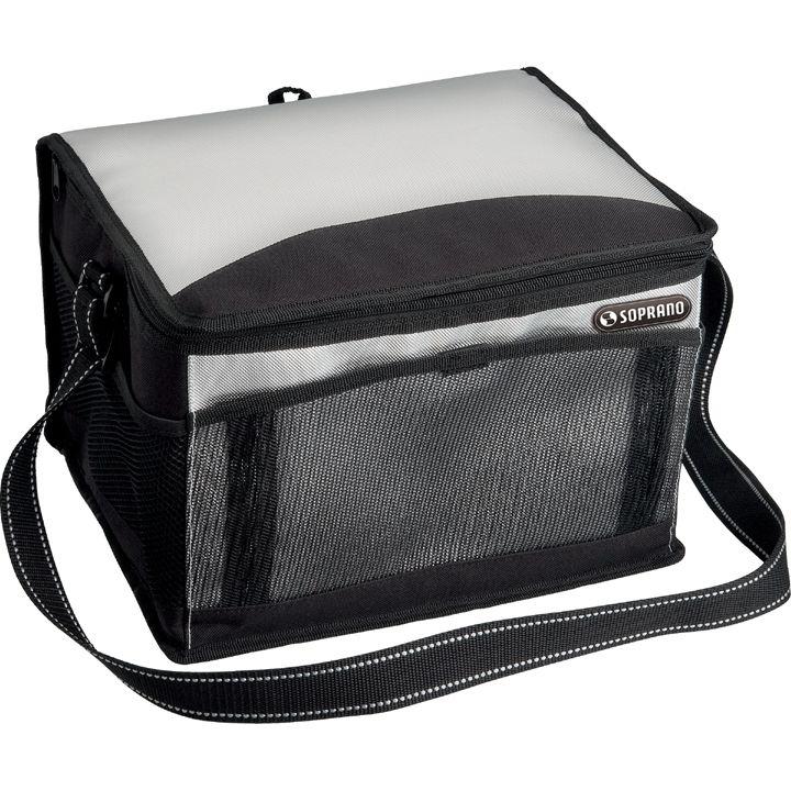 Bolsa Térmica Cooler 20 Litros Soprano Camping Viagem Preto