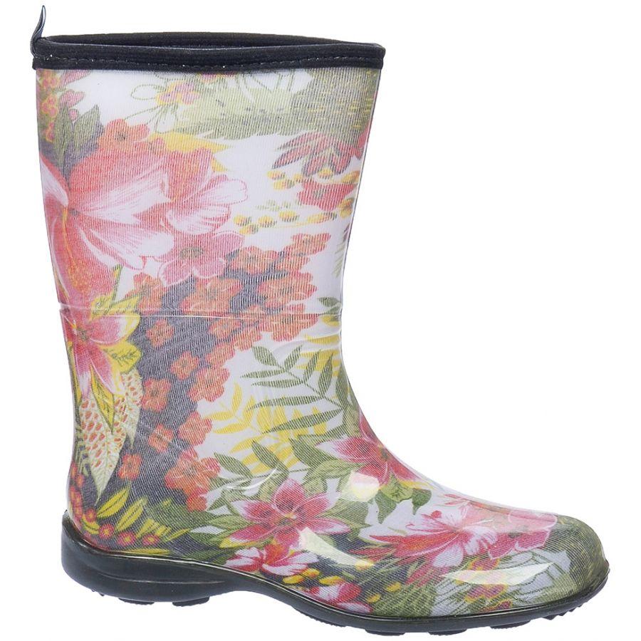 Galocha Alpat Fashion Cano Curto Floral Alegre