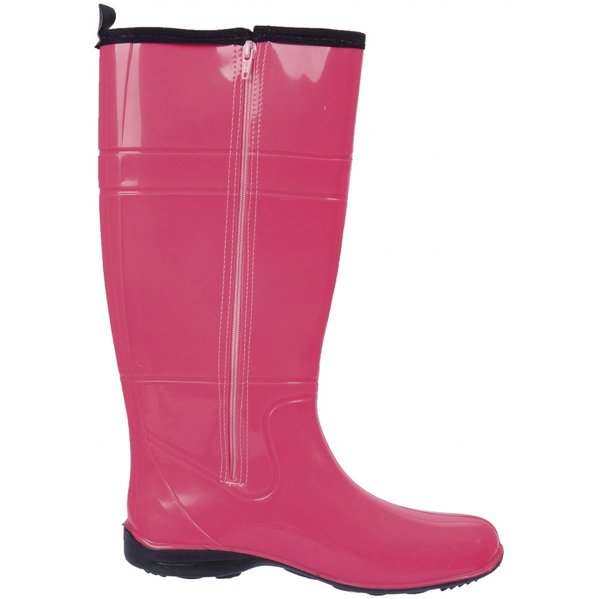 Galocha Alpat Fashion Pink Com Zíper  - Casafaz