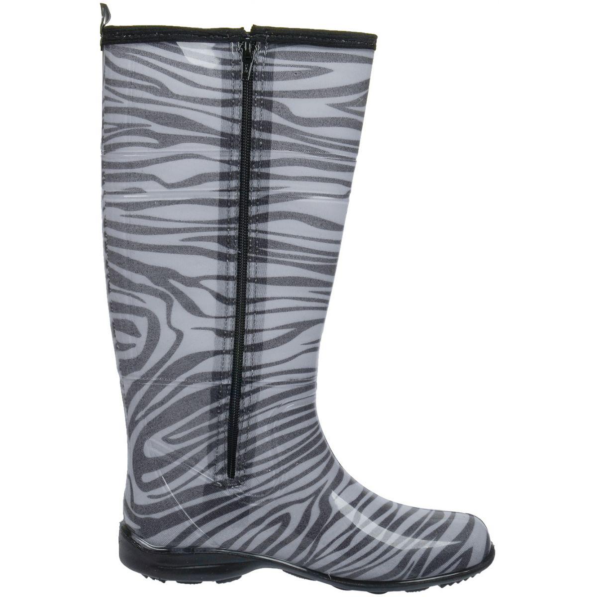 Galocha Alpat Fashion Zebra Com Zíper  - Casafaz