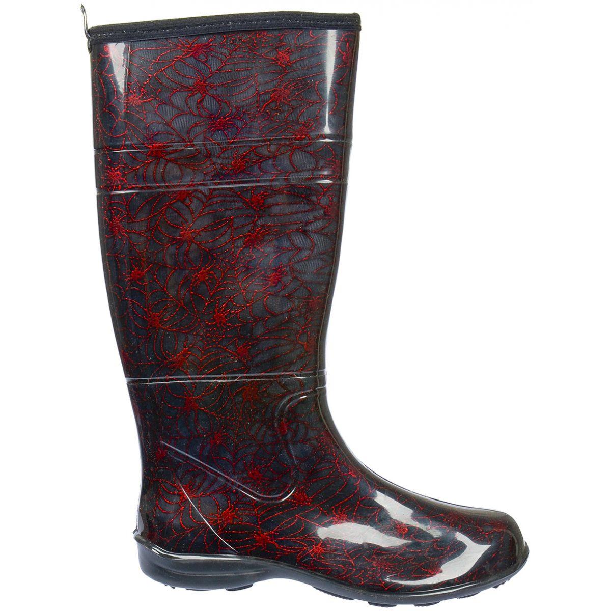 Galocha Alpat Fashion Preto Aranha Vermelho