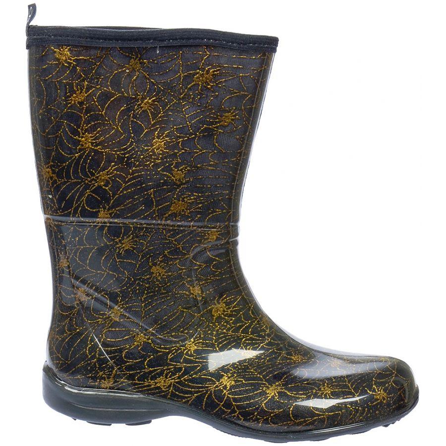 Galocha ALpat Fashion Cano Curto Preto Aranha Dourado  - Casafaz