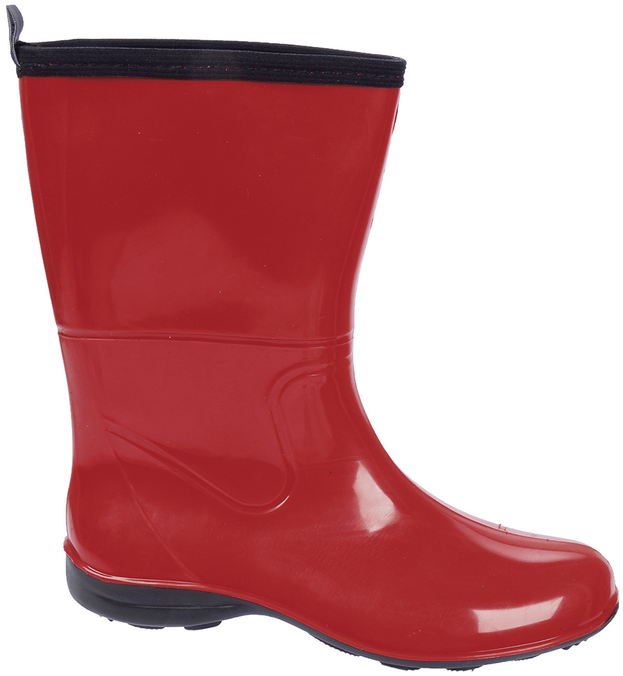 Galocha Alpat Fashion Cano Curto Vermelho  - Casafaz