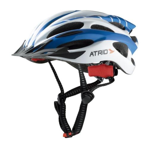 Capacete Ciclismo Com Led Atrio Azul Branco M - BI025