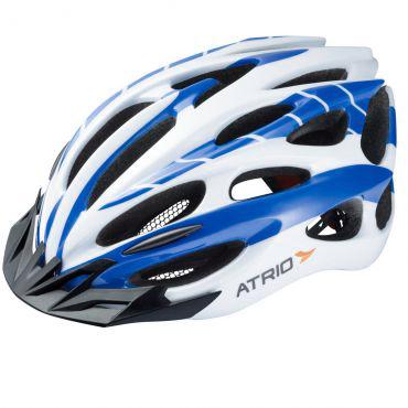Capacete Ciclismo Com Led Atrio Azul Branco M - BI025  - Casafaz