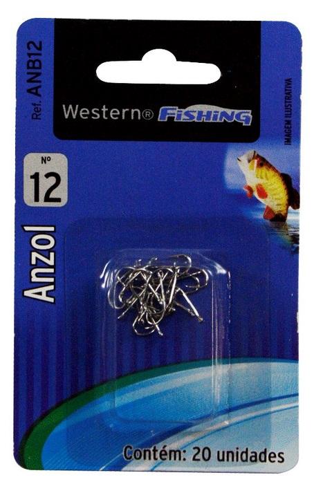 Anzol Para Pesca Nº 12 20 Unidades Western  - Casafaz