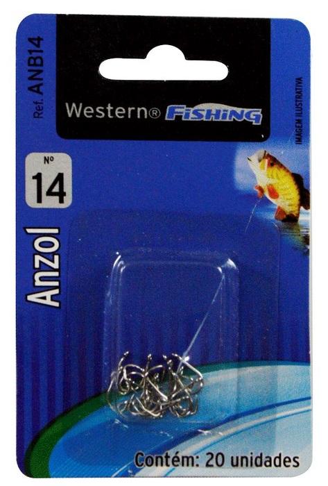 Anzol Para Pesca Nº 14 20 Unidades Western  - Casafaz