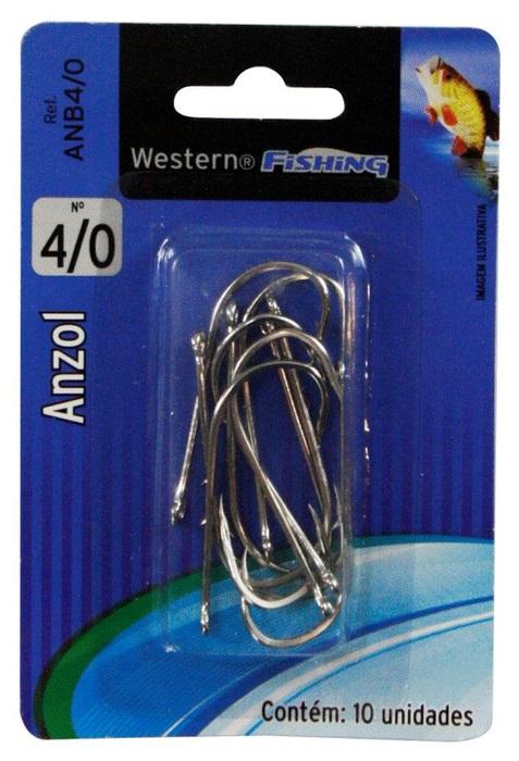 Anzol Para Pesca Nº 4/0 10 Unidades Western