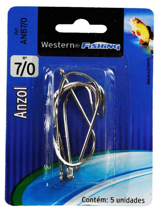 Anzol Para Pesca Nº 7/0 5 Unidades Western