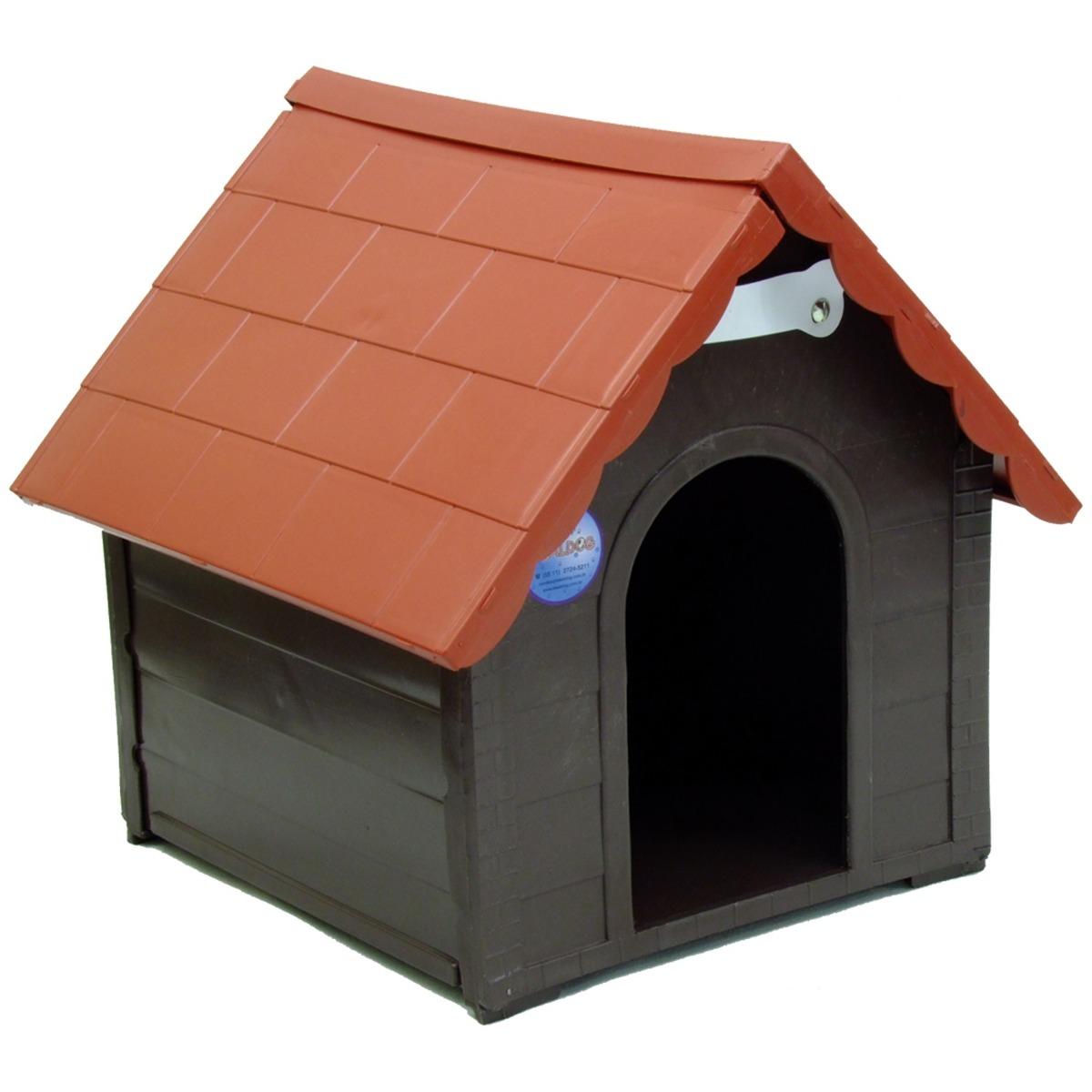 Casa Para Cães Plástica Desmontável P 36 X 28 X 35