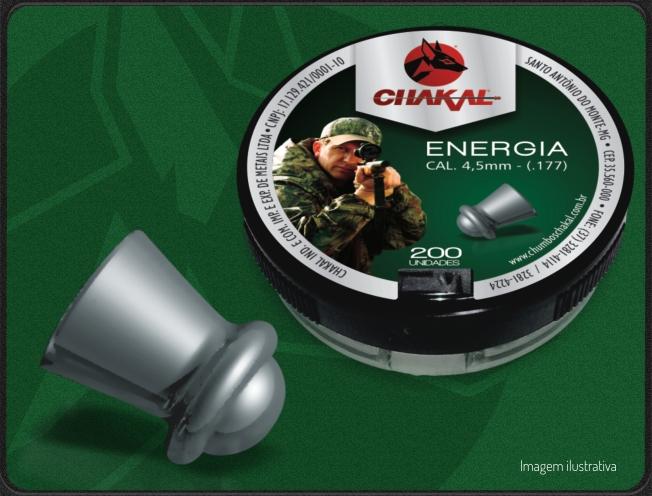 Chumbinho Para Carabina De Pressão Energia 4,5 Com 200