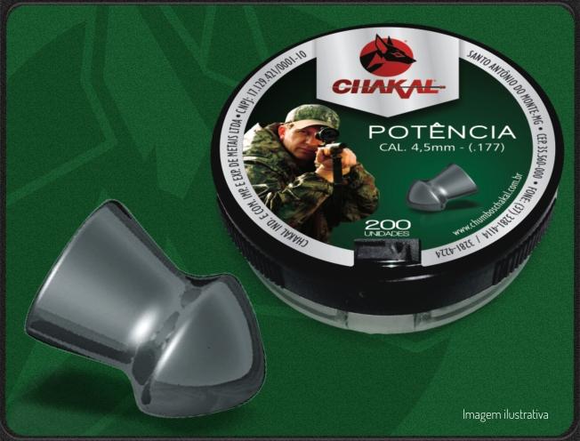 Chumbinho Para Carabina De Pressão Potência 4,5 Com 200  - Casafaz