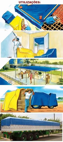 Lona Carreteiro Amarela 4 X 3 Metros Encerado Reforçada Multiuso  - Casafaz