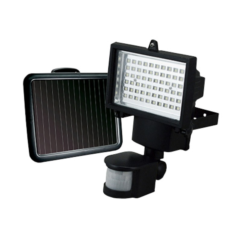 Refletor Solar 60 Leds Com Sensor Movimento Ecoforce
