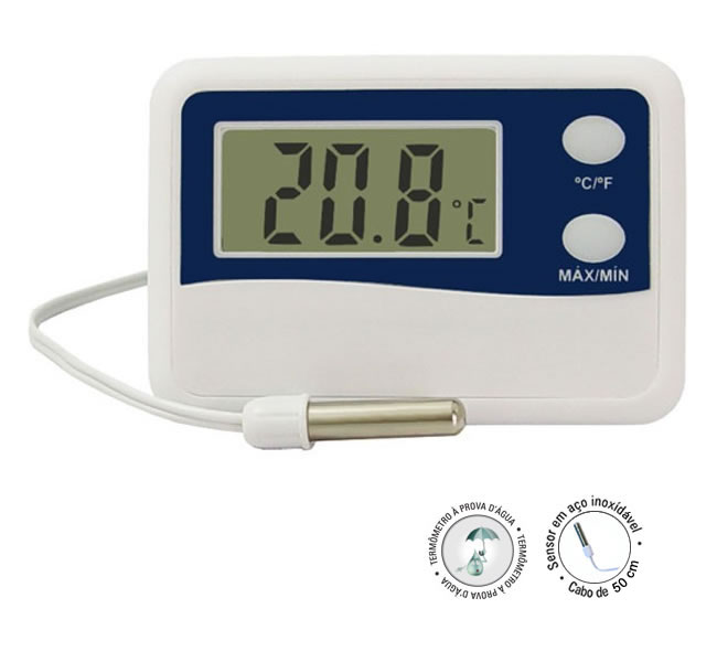 Termômetro Digital Max-Min Cabo 2Mt -50 +70 Refrigeração