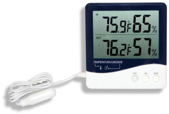 Termo Higrômetro Temperatura e Umidade Interna/ Externa