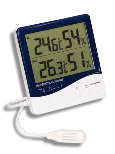 Termo Higrômetro Temperatura e Umidade Interna/ Externa  - Casafaz