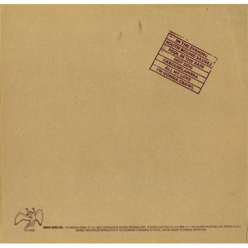Lp Led Zeppelin In Through The Out Door 180g  - Casafaz