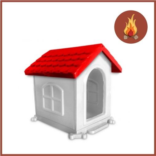 Casa Para Caes Plastica Desmontavel N 2 50 X 45 X 35 Vermelha