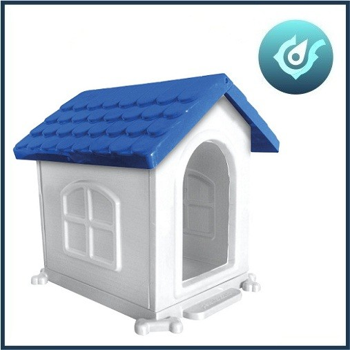 Casa Para Caes Plastica Desmontavel N 2 50 X 45 X 35 Azul