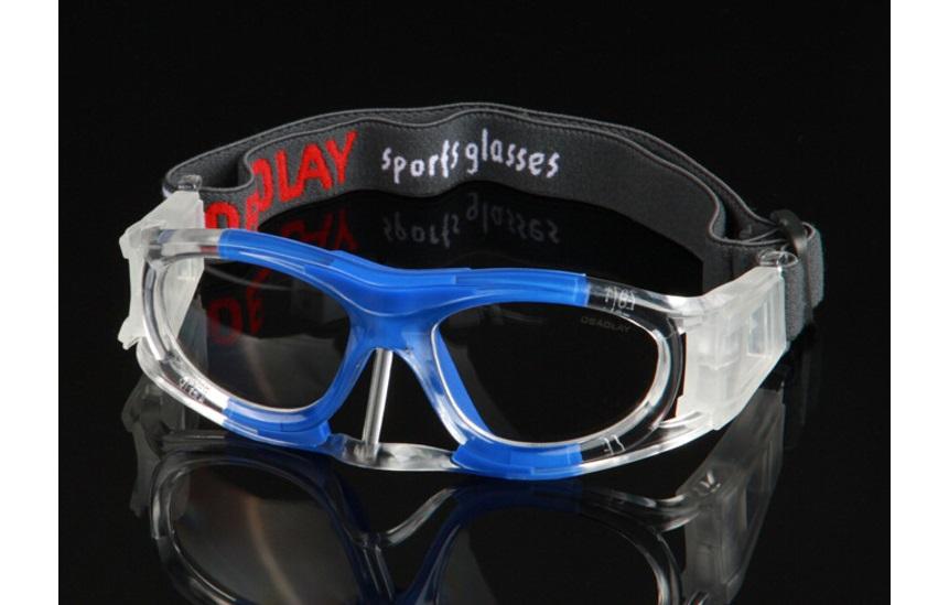 Óculos Eyki De Futebol Basquete Azul Com Protetor Nasal