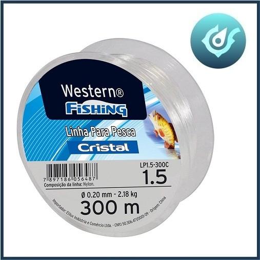 Linha Pesca Cristal Western 1.5 0.20mm 300 Metros