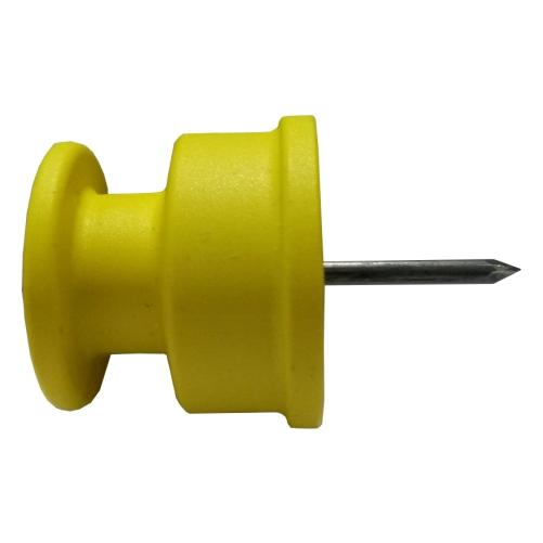 Isolador Cerca Elétrica Roldana Com Prego 35 X 35 mm Com 50 Unidades  - Casafaz