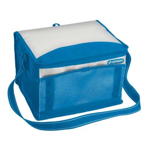 Bolsa Térmica Cooler 12 Litros Soprano Camping Viagem Azul