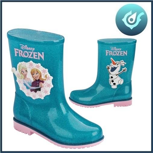 Bota Infantil Frozen Vidro Glitter Verde 51465 Galocha Grendene