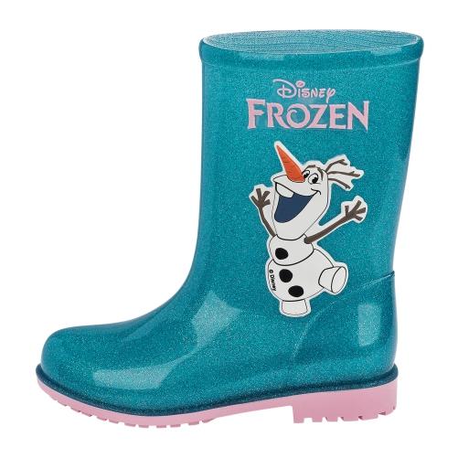 Bota Infantil Frozen Vidro Glitter Verde 51465 Galocha Grendene  - Casafaz