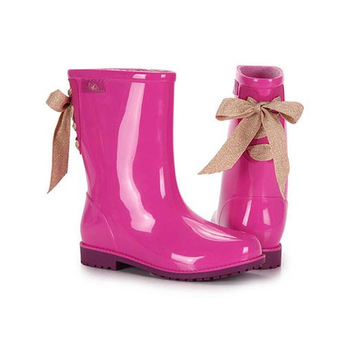 Bota Infantil Barbie Rosa Roxo 50959 Galocha Grendene