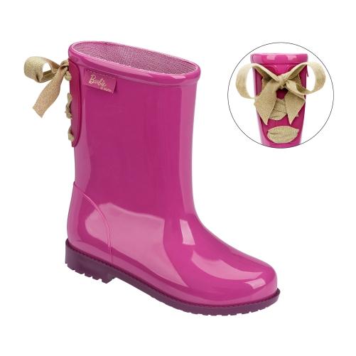 Bota Infantil Barbie Rosa Roxo 50959 Galocha Grendene  - Casafaz