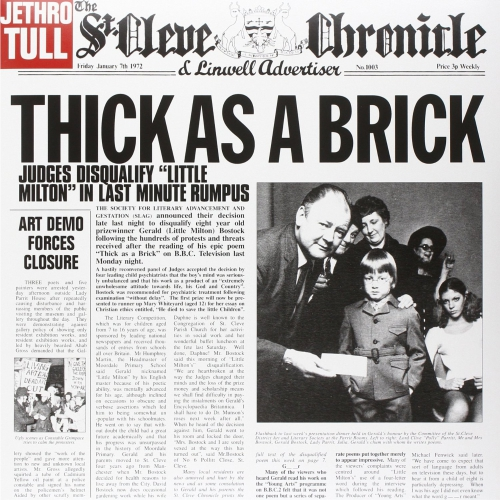 Lp Jethro Tull Thick As A Brick 180gr Inc 24 Booklet  - Casafaz