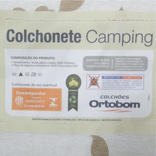 Colchonete Acampamento Barraca Ortobom D20 Certificado 2 Unidades  - Casafaz