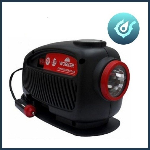 Compressor Lanterna 12v Worker Inflador Botes